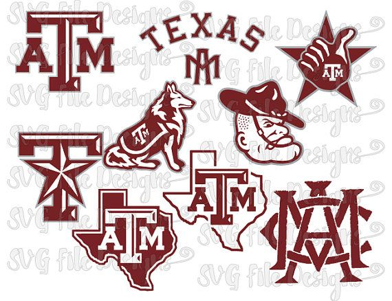 Texas A&M Aggies University Football Logo by SVGFileDesigns.