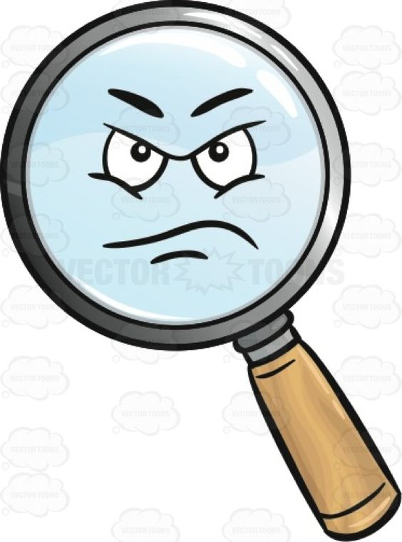 Displeased Magnifier Emoji.