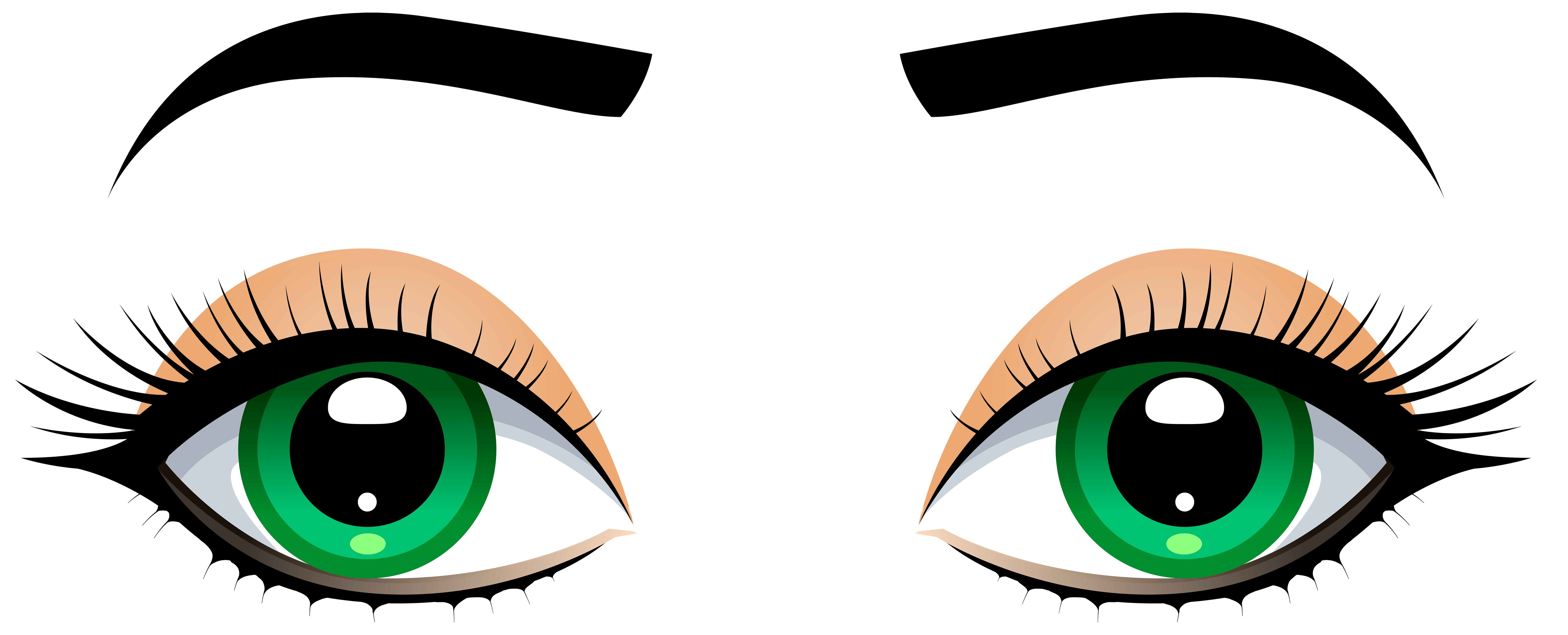 Eyes And Eyebrows Clipart.