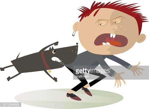 Attention! The aggressive dog Clipart Image.