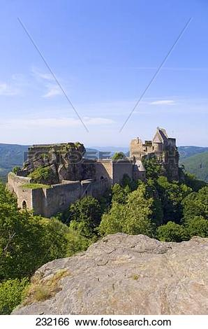 Stock Images of Castle on hill, Aggstein Castle, Wachau, Lower.