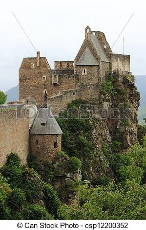 Stock Images of Aggstein Castle.