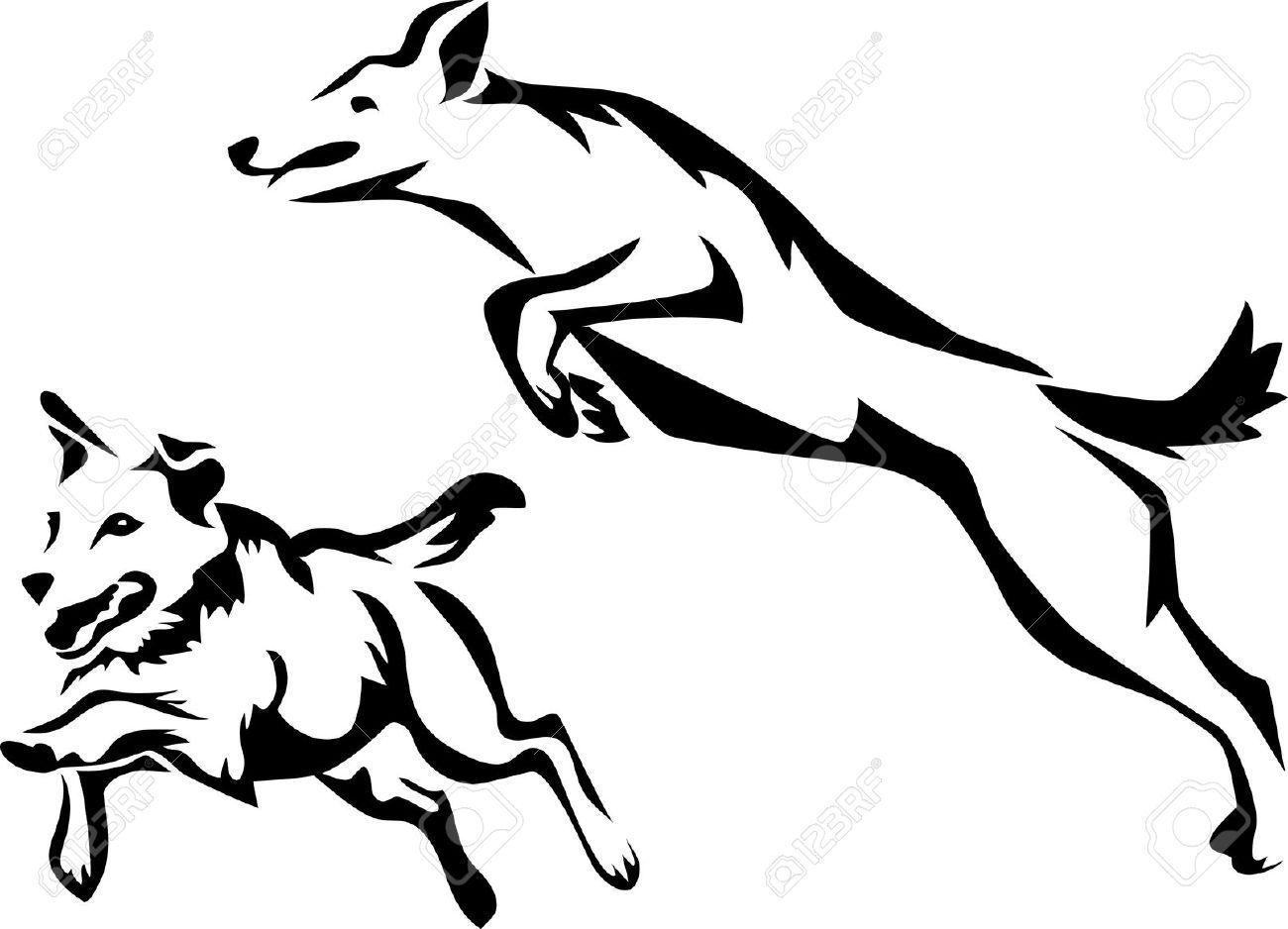 Free dog agility clipart.