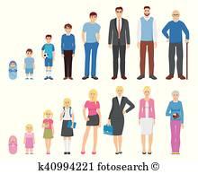 Ageing Clip Art Vectors.