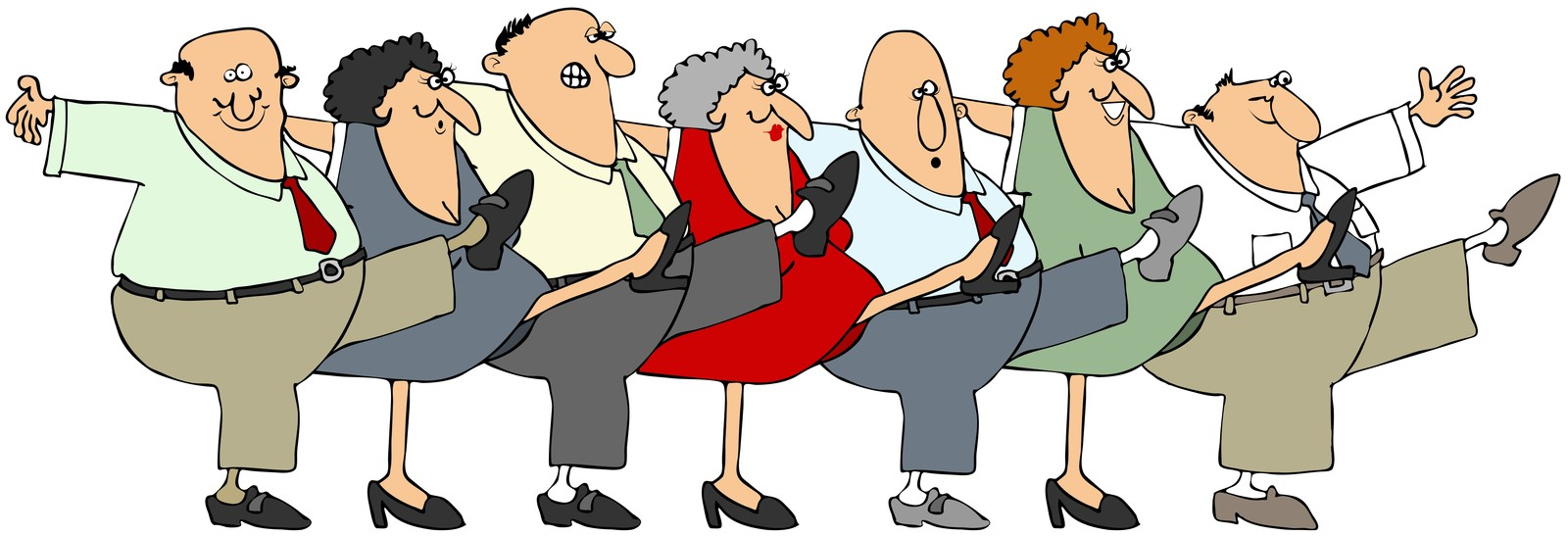 Healthy aging clipart.