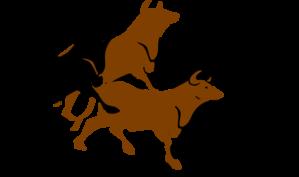 Bull Stampede Agitated Clip Art at Clker.com.