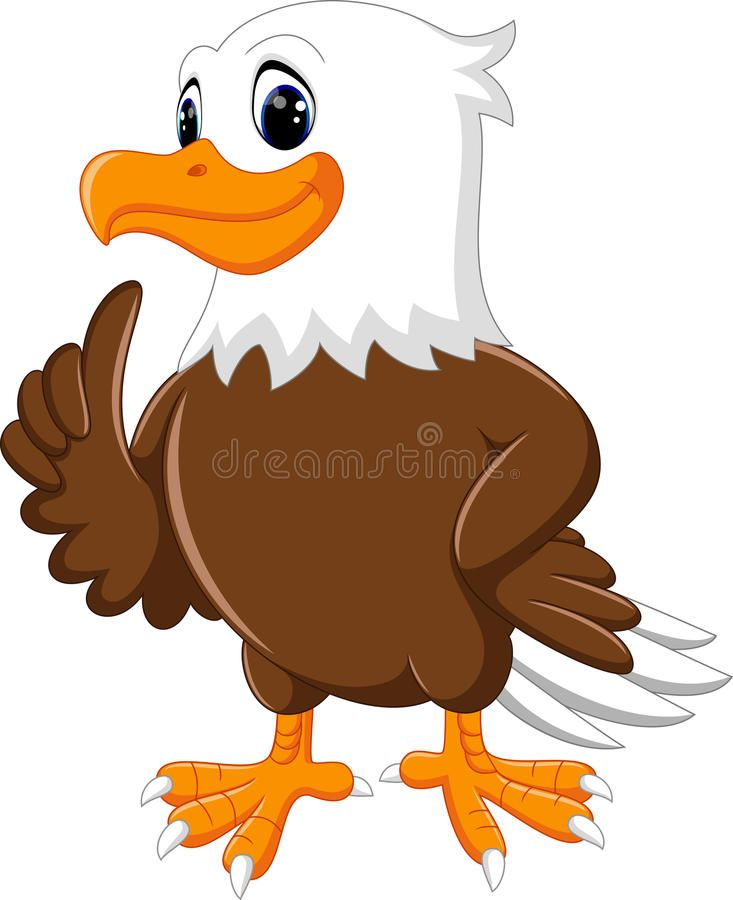 Download Cute eagle cartoon stock vector. Image of cartoon.