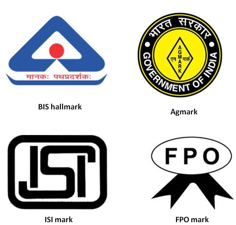 Certification Marks issued for different products in India.