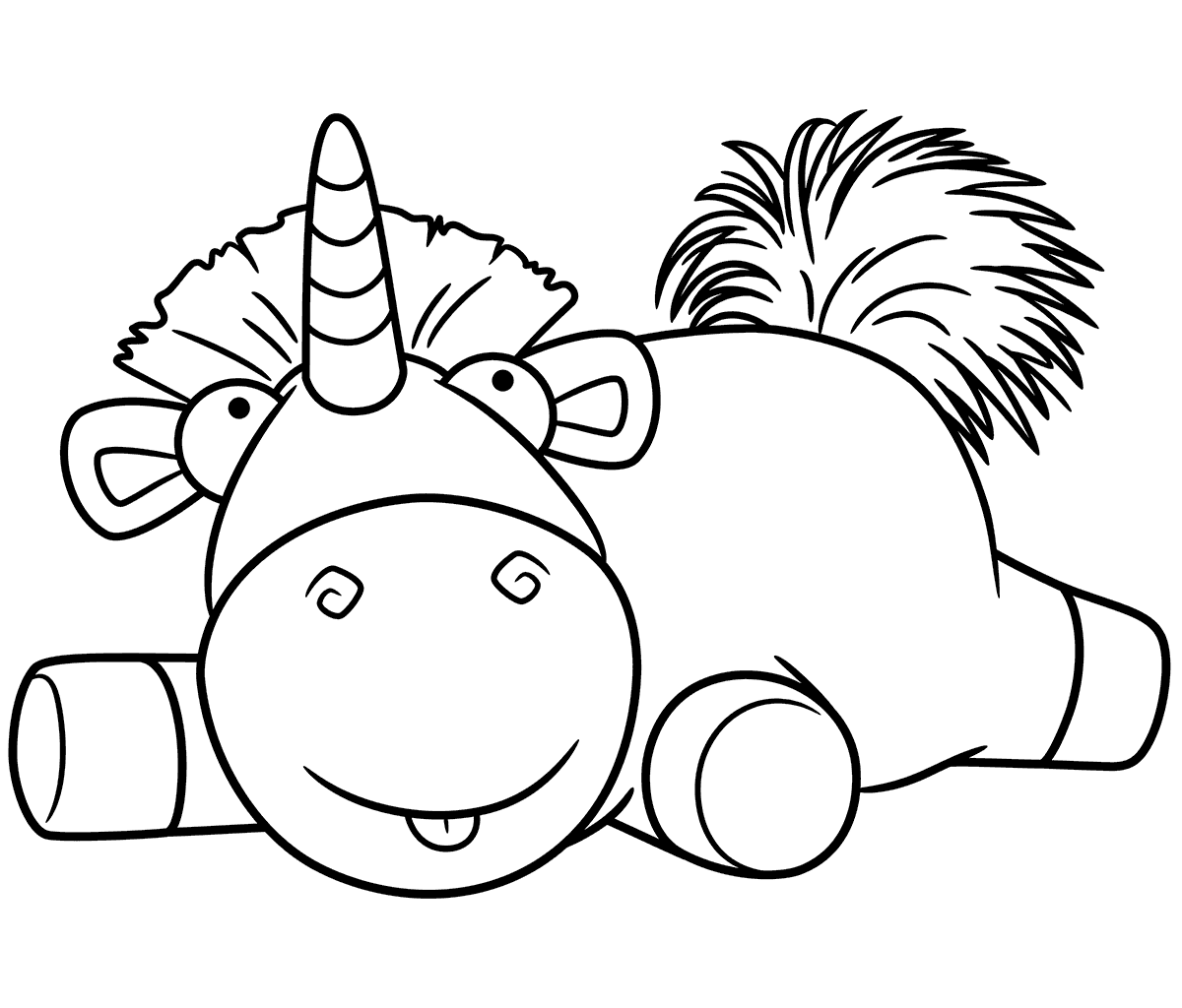 Despicable Me Unicorn Coloring Pages.