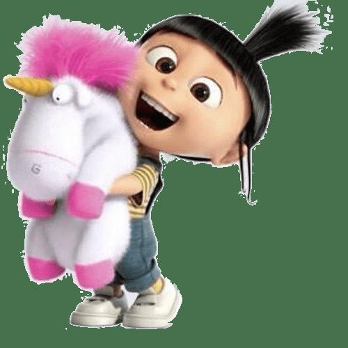 Agnes and Unicorn Despicable Me transparent PNG.