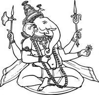 Agni, a gaurdian deity Free Vector.