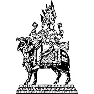 Agni, a gaurdian deity clipart, cliparts of Agni, a gaurdian deity.