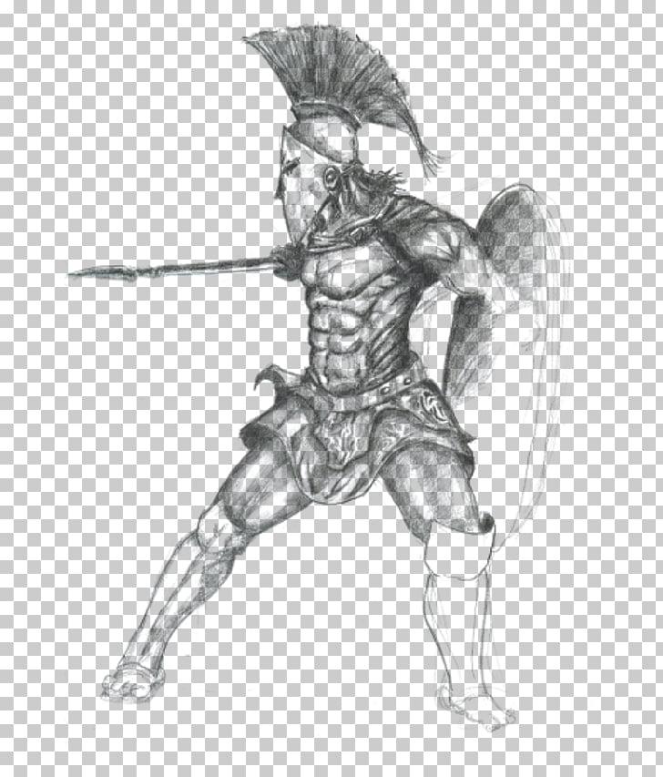 Spartan army Warrior Agoge Soldier, warrior PNG clipart.