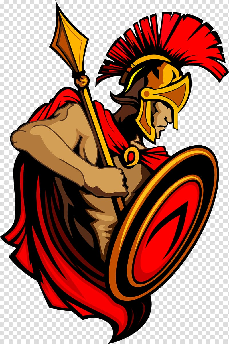 Spartan logo illustration, Spartan army Ancient Greece.