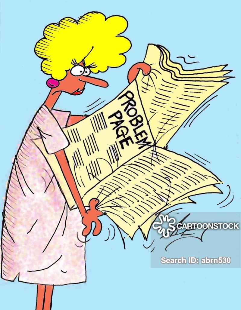 Agony Aunts Cartoons and Comics.