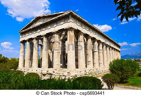 Stock Photography of Ancient Agora at Athens, Greece.