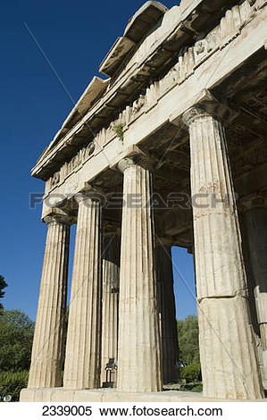 Stock Image of Temple of Hephaestus in ancient agora of Athens.