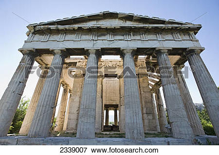 Picture of Temple of Hephaestus in ancient agora of Athens; Athens.