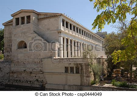 Stock Photographs of Greek Agora.