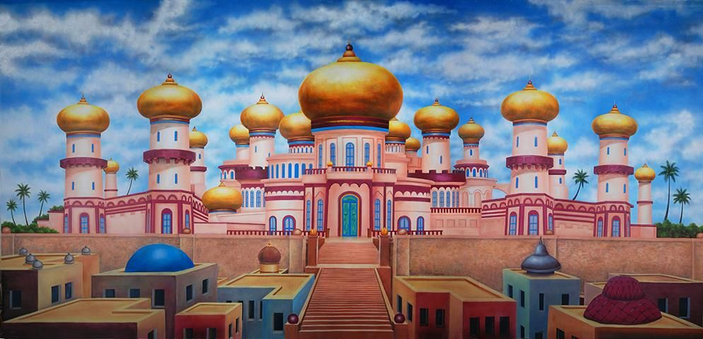 Agrabah Palace Exterior Professional Scenic Backdrop in 2019.