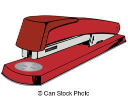 Vector illustration a red stapler..