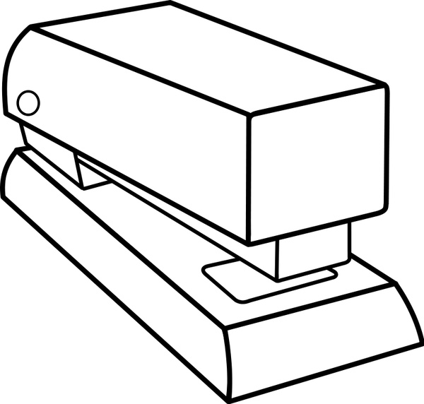Agrafeuse / stapler Free vector in Open office drawing svg.