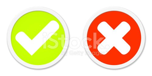 Buttons Red Green agree or disagree Clipart Image.