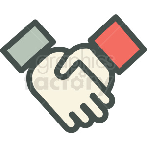 handshake agreement vector icon . Royalty.