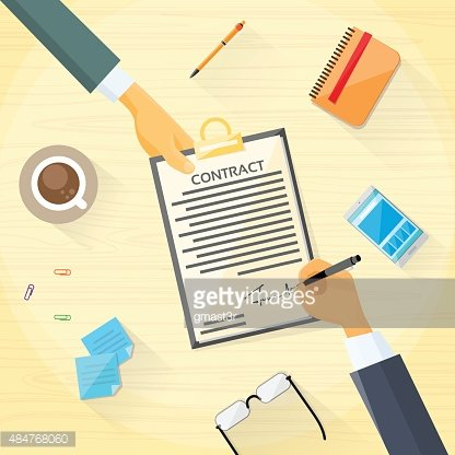 Contract Sign Up Paper Document Business People Agreement.