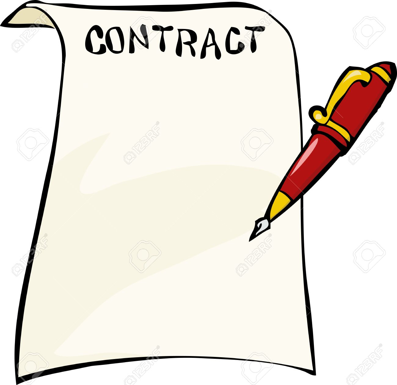 207 Contract free clipart.