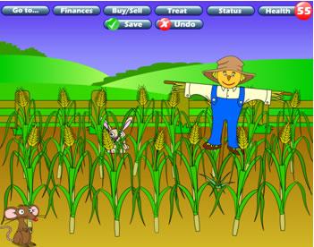 Farm crops cartoon.