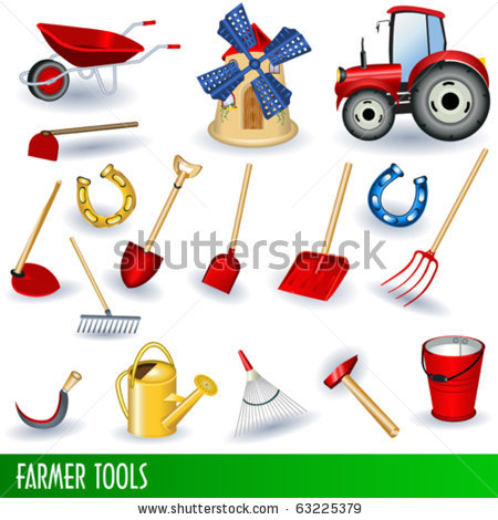 Agriculture tools clipart.