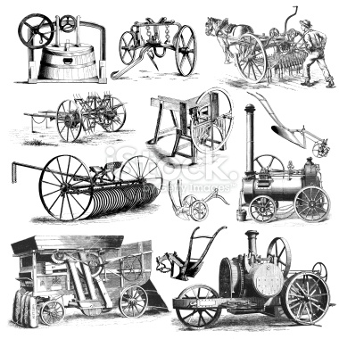 Agriculture equipment clipart.