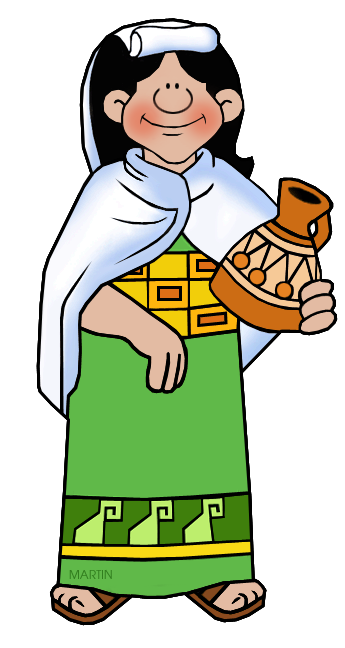 Inca Clip Art by Phillip Martin, Inca Woman.