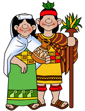 Inca Clip Art by Phillip Martin, Inca Couple.