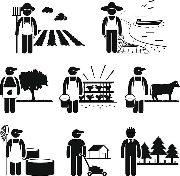 Farmer Clip Art, Vector Images & Illustrations.