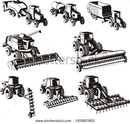 Harvester Machine Stock Images, Royalty.