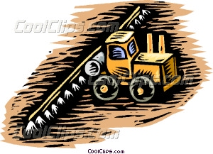 Farm machinery clipart.