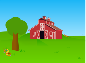 Farm scene clipart.