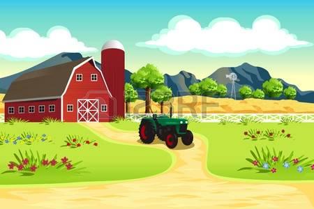 7,156 Farm Scene Cliparts, Stock Vector And Royalty Free Farm.