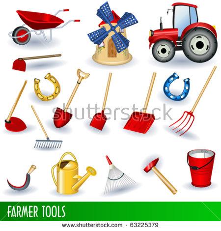 Farmer tools clipart.