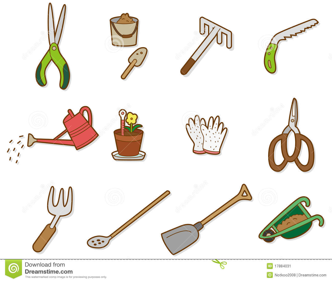 Agricultural tools clipart.