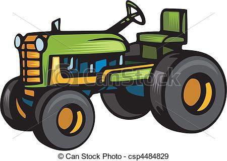 EPS Vectors of Agriculture Vehicles csp4484829.