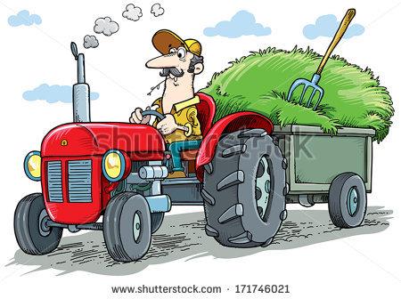 Cartoon Tractor Stock Photos, Royalty.