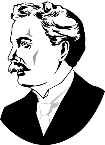 Luther Burbank vector image.