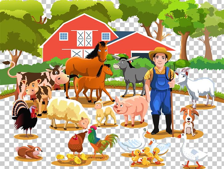 Farm Livestock Agriculture Illustration PNG, Clipart, Art.