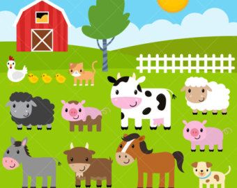 Animal Farming Clipart.