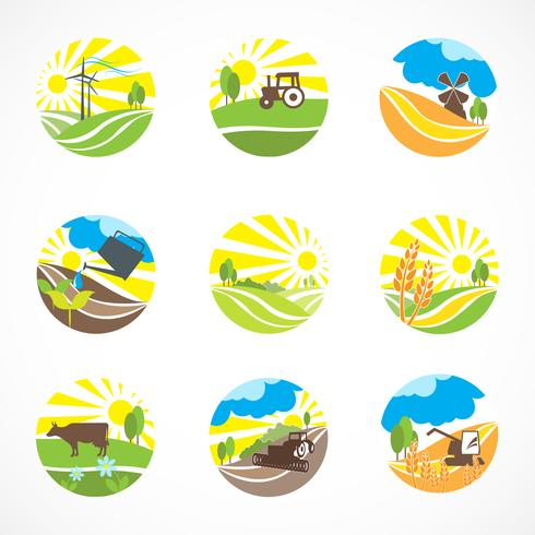 Agriculture Icons Set.