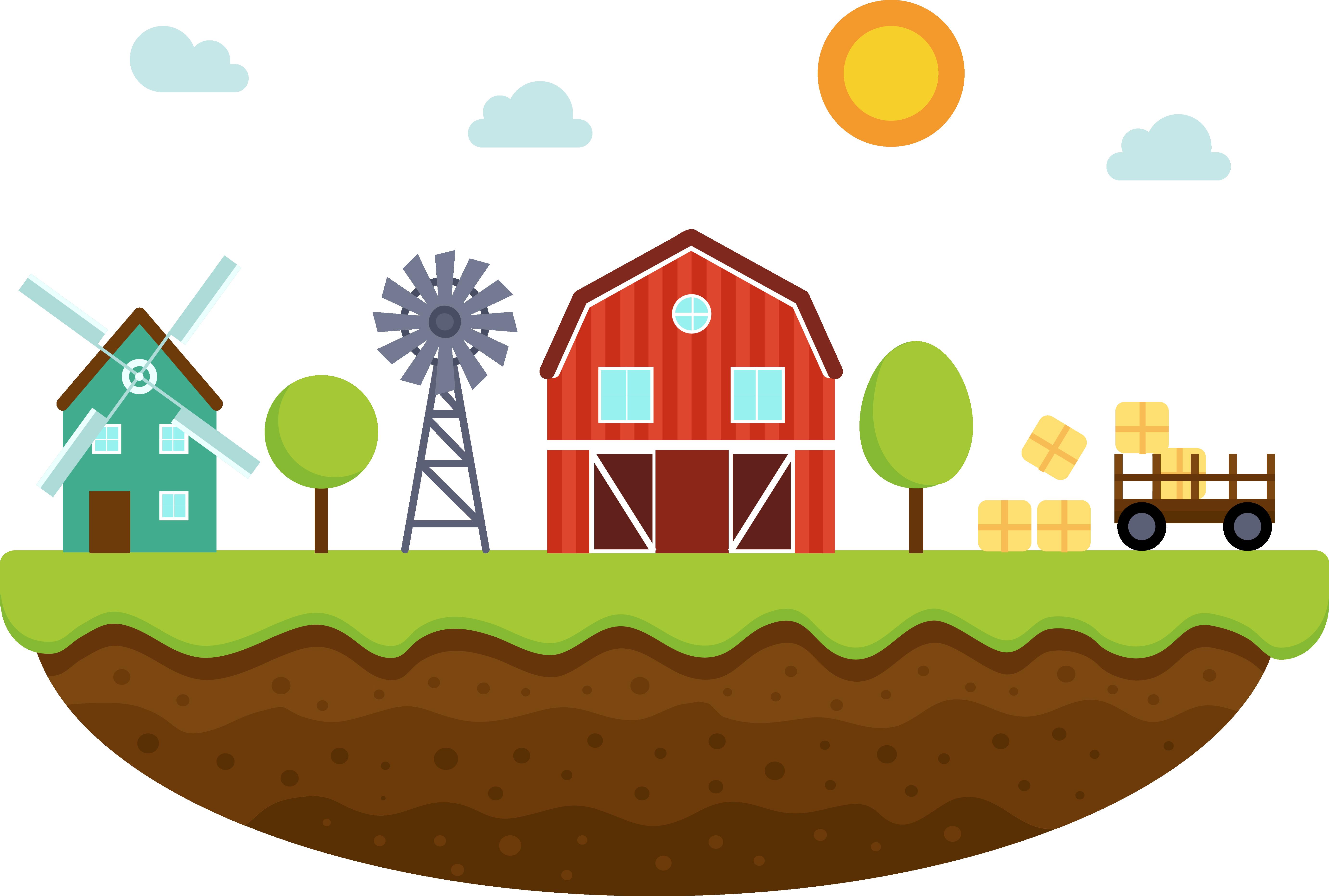 Farm Agriculture Landscape.