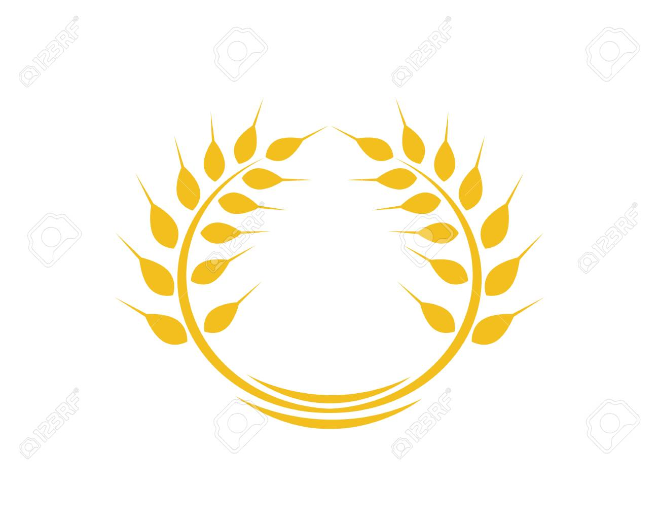 Agriculture wheat Logo Template vector icon design.